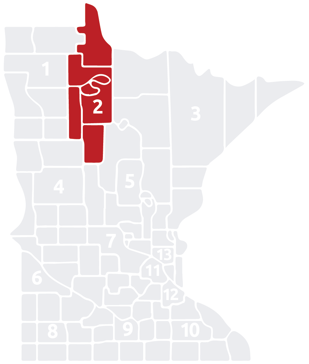 Special Olympics Minnesota Area 2 map