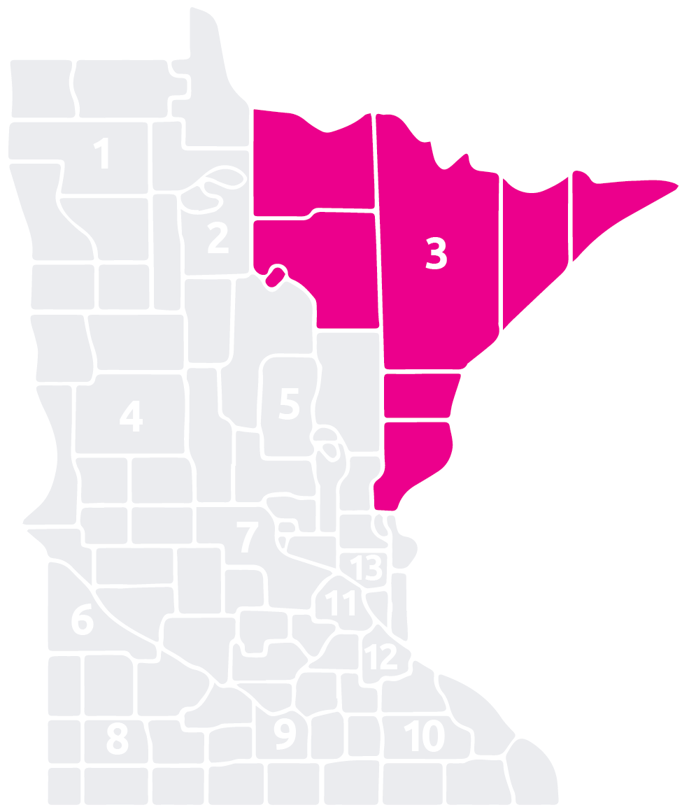 Special Olympics Minnesota Area 3 map