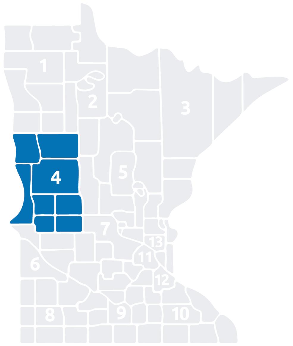 Special Olympics Minnesota Area 4 map