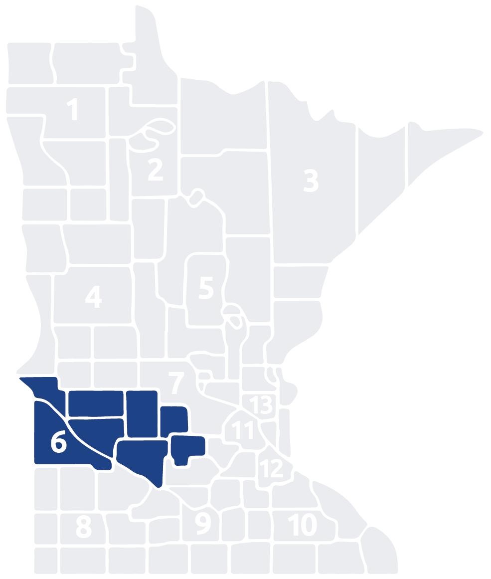 Special Olympics Minnesota Area 6 map