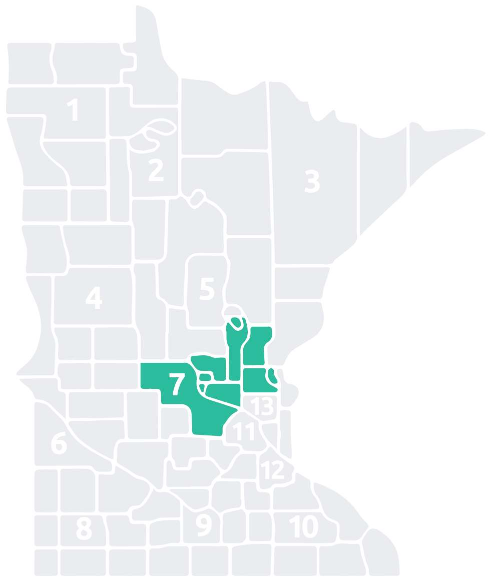 Special Olympics Minnesota Area 7 map