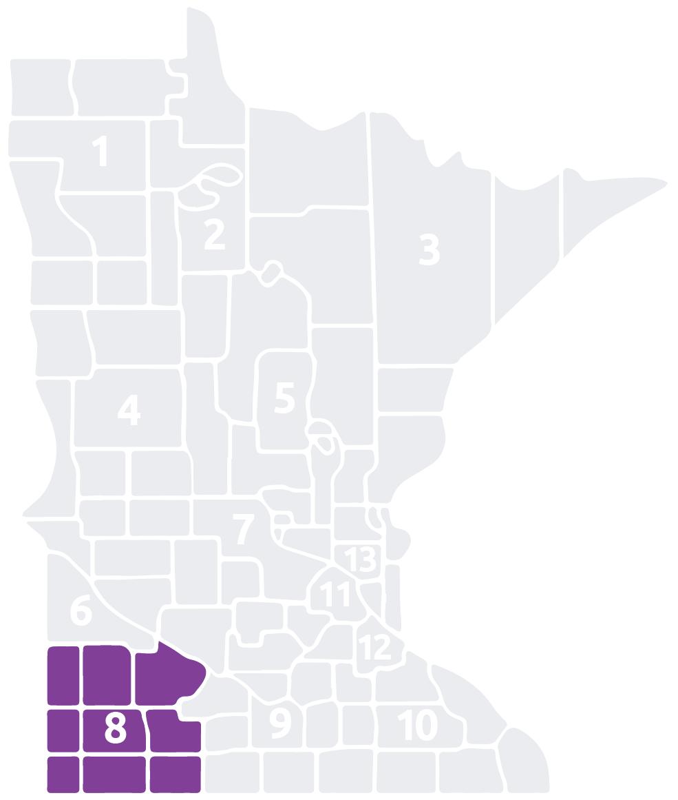 Special Olympics Minnesota Area 8 map